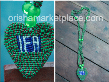 Ileke Ifa with Ifa Written on Pendant - Click Image to Close