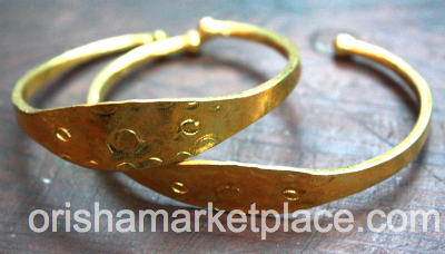 Ide Owo Brass Bangle With Engravings