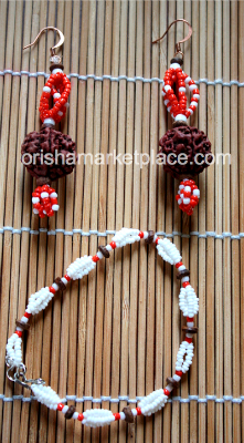 Matching Set Earrings and Bracelet Beads for Sango