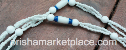 Obatala or Olokun Eleke Neck Beads
