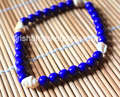 Olokun Yemoja Beads for Wrist with Seashells