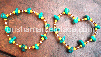 Oshun Osun Wrist beads - Click Image to Close