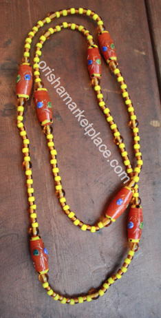 Osun Oshun Neck Beads Ileke