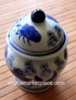 Small Blue and White Pot